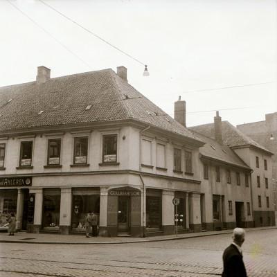 Den Bilden Östergatan gamla Malmö