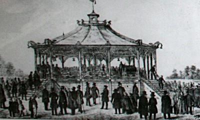 Den Bilden Gjutjärnskarusell på Kockums Holme gamla Malmö