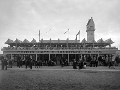 Den Bilden Baltiska utställningen Feiths café och konditori gamla Malmö
