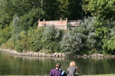 Den Bilden Belvederen i Kungsparken från Slottsparken tvättad