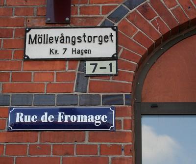 Den Bilden Rue de Fromage Möllans ost