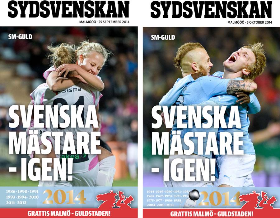 Malmöblickar Den Bilden FC Rosengård Malmö FF svenska mästare