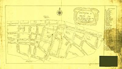 Malmöblickar Karta över rännorna 1713 gamla Malmö