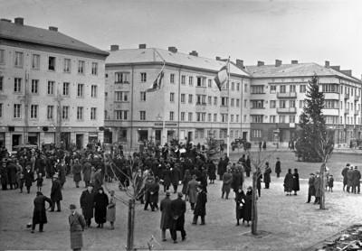 Julgran på Davidhallstorg 1936