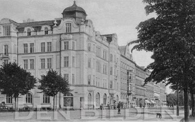 Amiralsgatan och Kungsgatan 1903